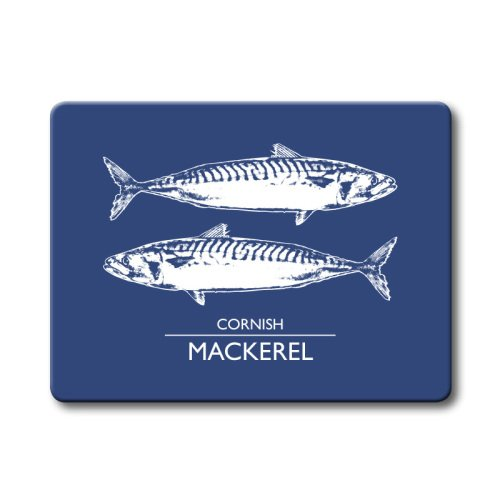 Textured Glass Surface Protector - Cornish Mackerel