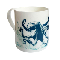 Bone China Mug - Octopus
