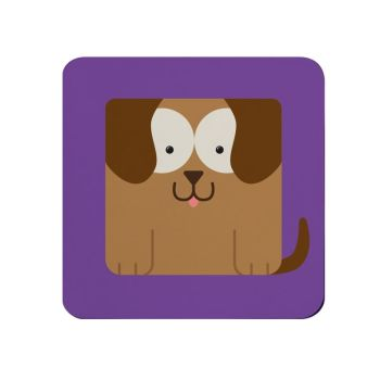 Square-Animal Design Coaster - Dog
