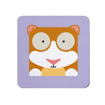 Square-Animal Design Coaster - Guinea Pig