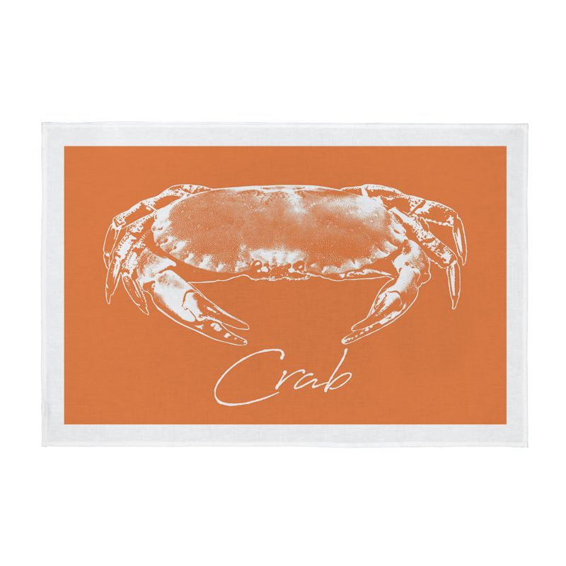 Crab Tea Towel - Orange - NEW PRODUCT