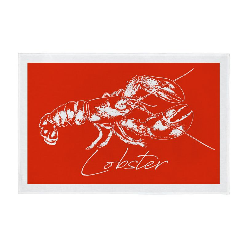 Tea Towel - Lobster - Coral Red - NEW PRODUCT
