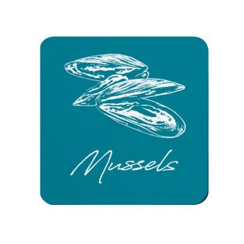 Mussels Coaster - Deep Turquoise - NEW