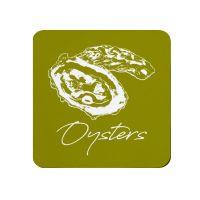 Oysters Coaster - Green Melamine - Coastal Theme
