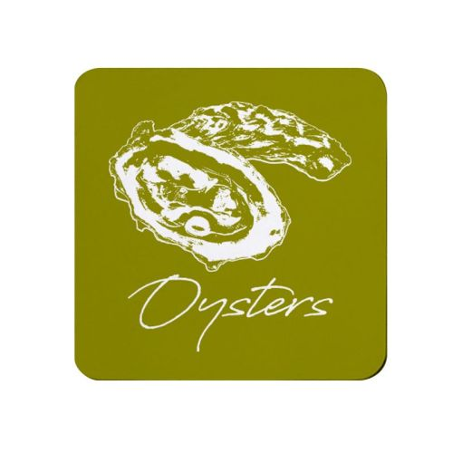 Oysters Coaster - Olive - NEW
