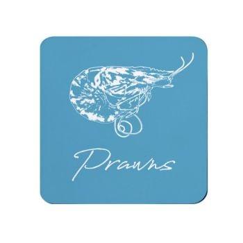 Prawns Coaster - Blue Melamine - Coastal Theme