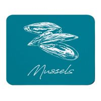 Place Mat - Mussels - Deep Turquoise - NEW