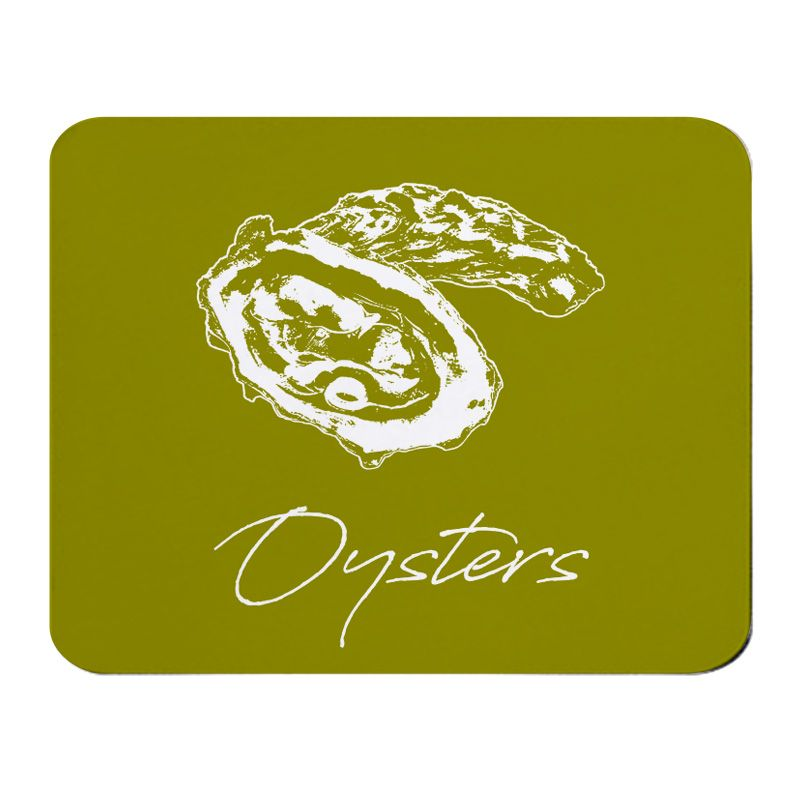 Place Mat - Oysters - Olive Green - NEW