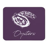 Oysters Placemat - Purple Melamine - Coastal Style