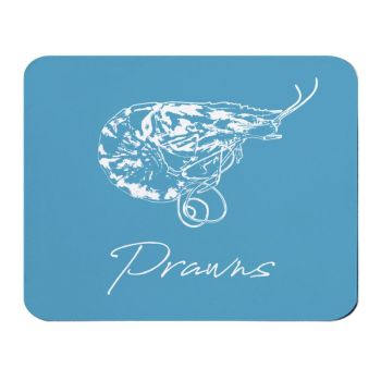 Place Mat - Prawns - Blue - NEW
