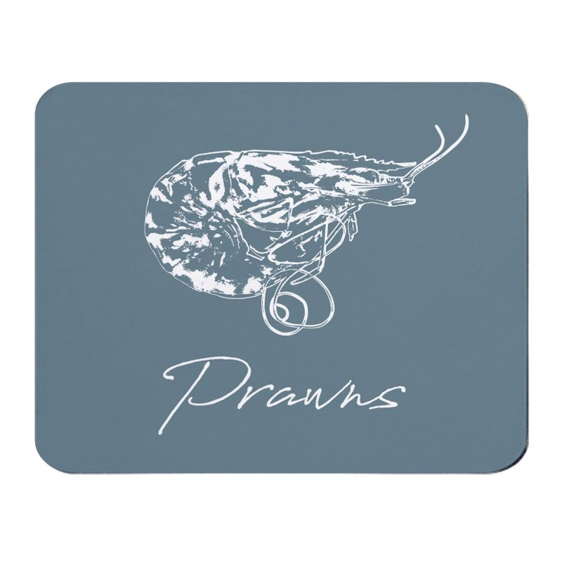 Place Mat - Prawns - Grey - NEW
