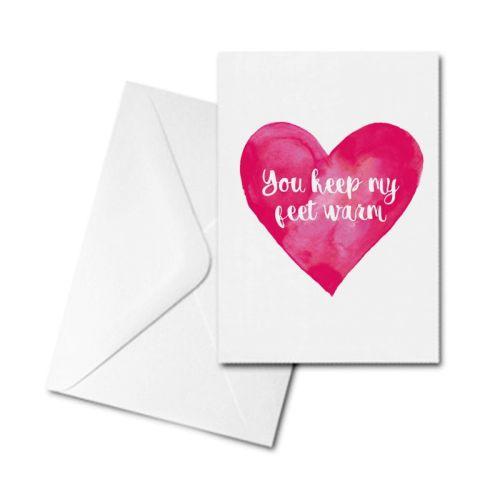 Valentine's Card - Valentine - You Keep My Feet Warm