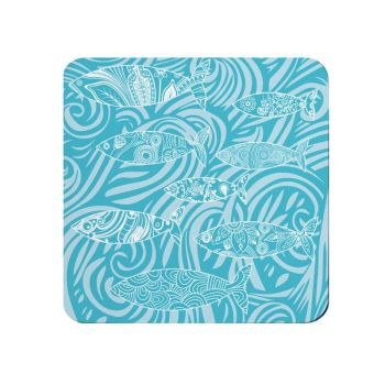 Shoal of Fish Coasters - Turquoise