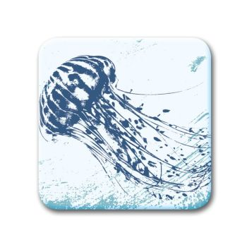 Glass Coaster - Jellyfish