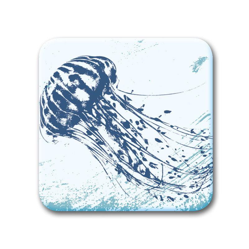 Glass Coaster - Jellyfish
