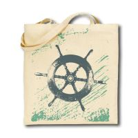 Cotton Tote Bag - Ship's Wheel