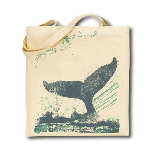 Cotton Tote Bag - Whale's Tail