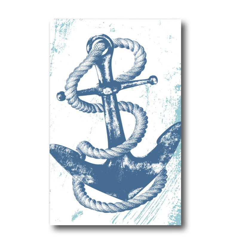 Melamine Fridge Magnet - Anchor
