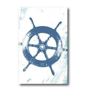 Melamine Fridge Magnet - Ship's Wheel