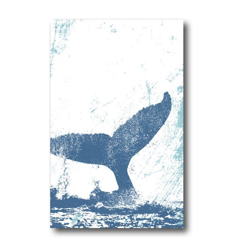 Melamine Fridge Magnet - Whale's Tail