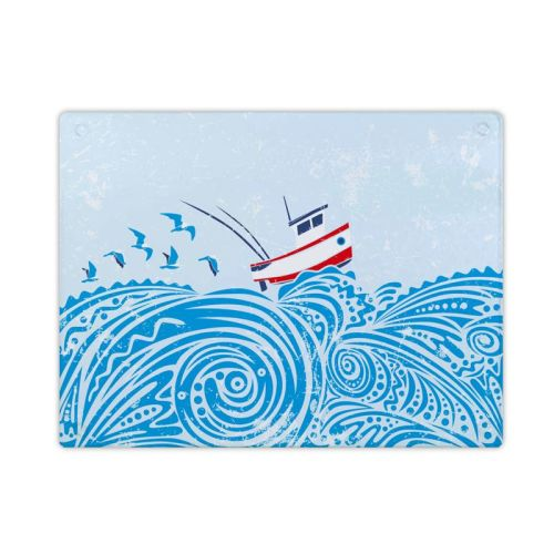 Glass Surface Protector - Fishing Boat