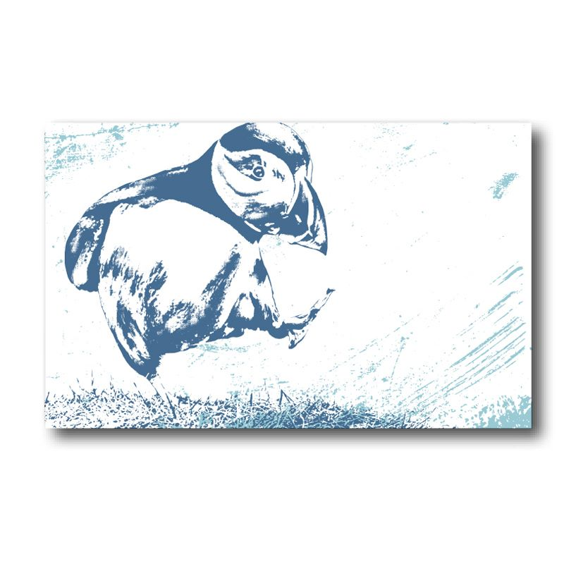 Melamine Fridge Magnet - Puffin