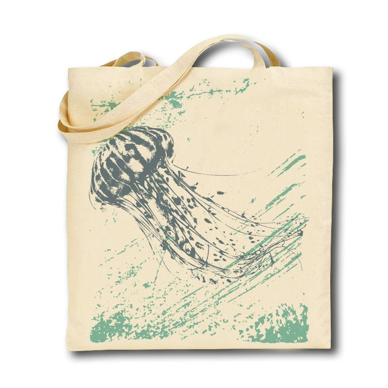 Cotton Tote Bag - Jellyfish