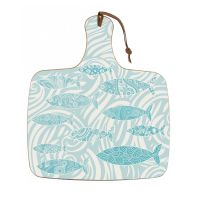 Chopping Board - Shoal of Fish - Pale Aqua