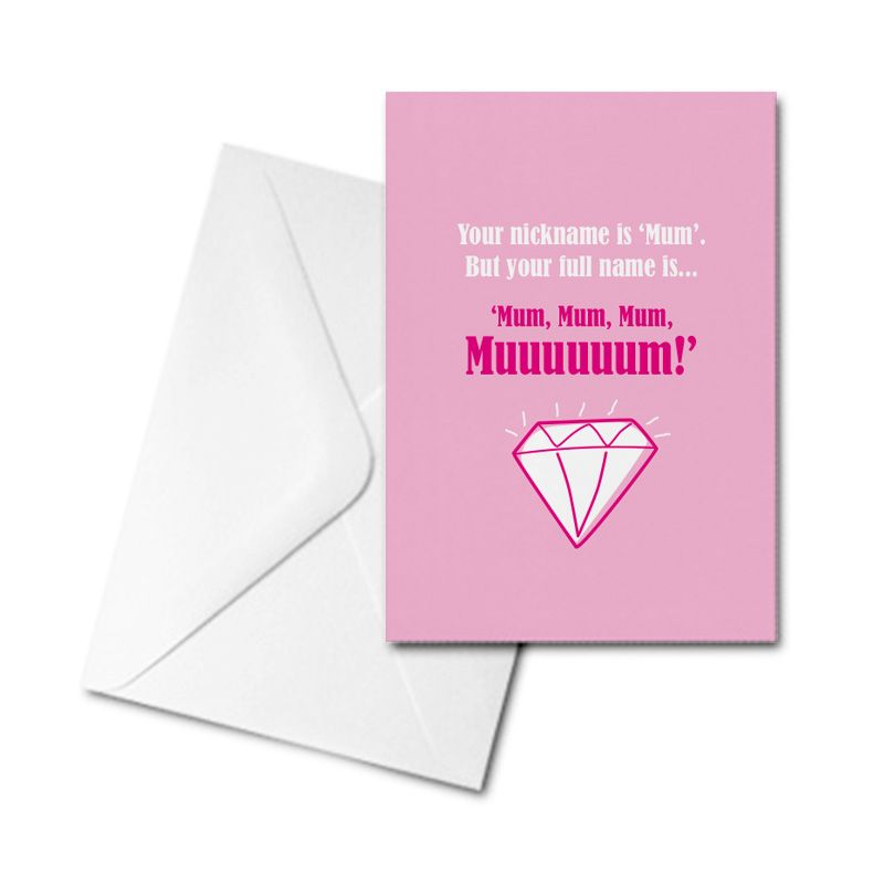 Greetings Card - Your nickname is Mum