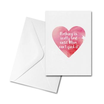 Greetings Card - Nothing is really lost