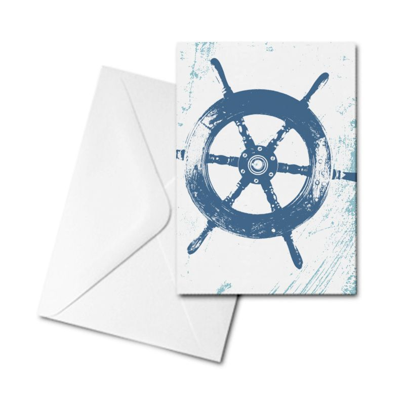 Blank Card - Ship's Wheel