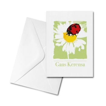 Blank Greetings Card - Gans Kerensa - Ladybird