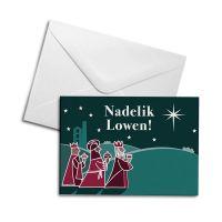 Christmas Card - 3 Wise Men - Nadelik Lowen