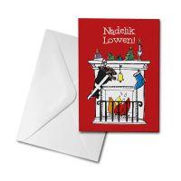 Christmas Card - Cornish Fireplace - Nadelik Lowen