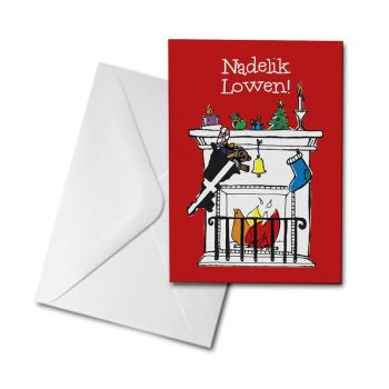 Christmas Card - Cornish Fireplace - Nadelik Lowen