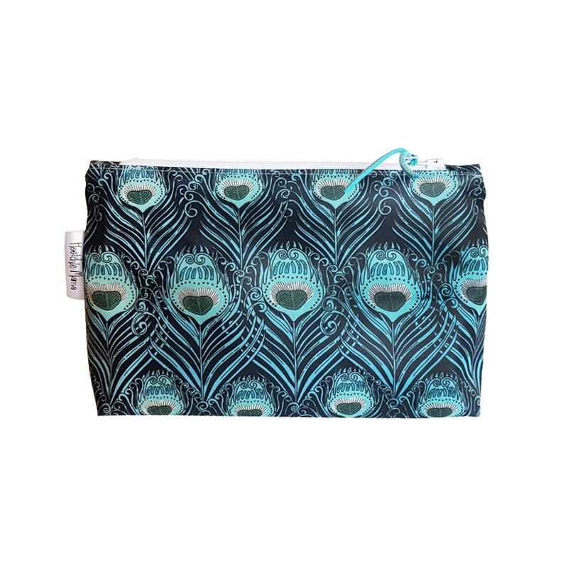Peacock Feathers Cosmetic Bag