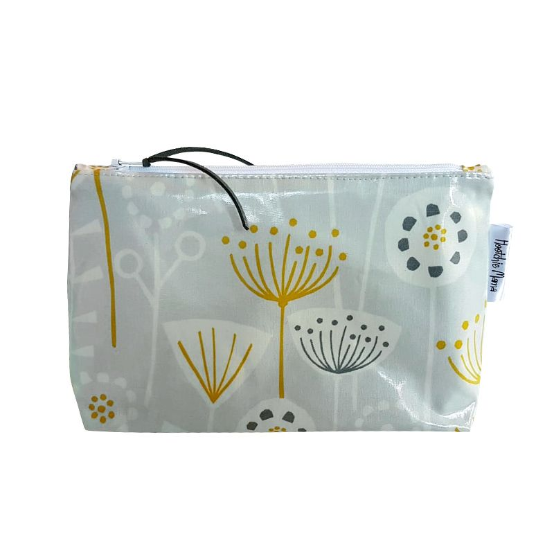Grey Cornflowers Cosmetic Bag