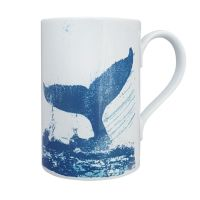 A Stunning Porcelain Mug - Whale's Tail Design