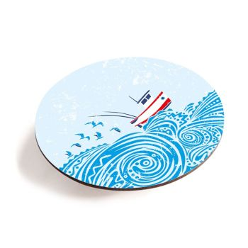 Fishing Boat Teapot Stand - Melamine - Seaside Style