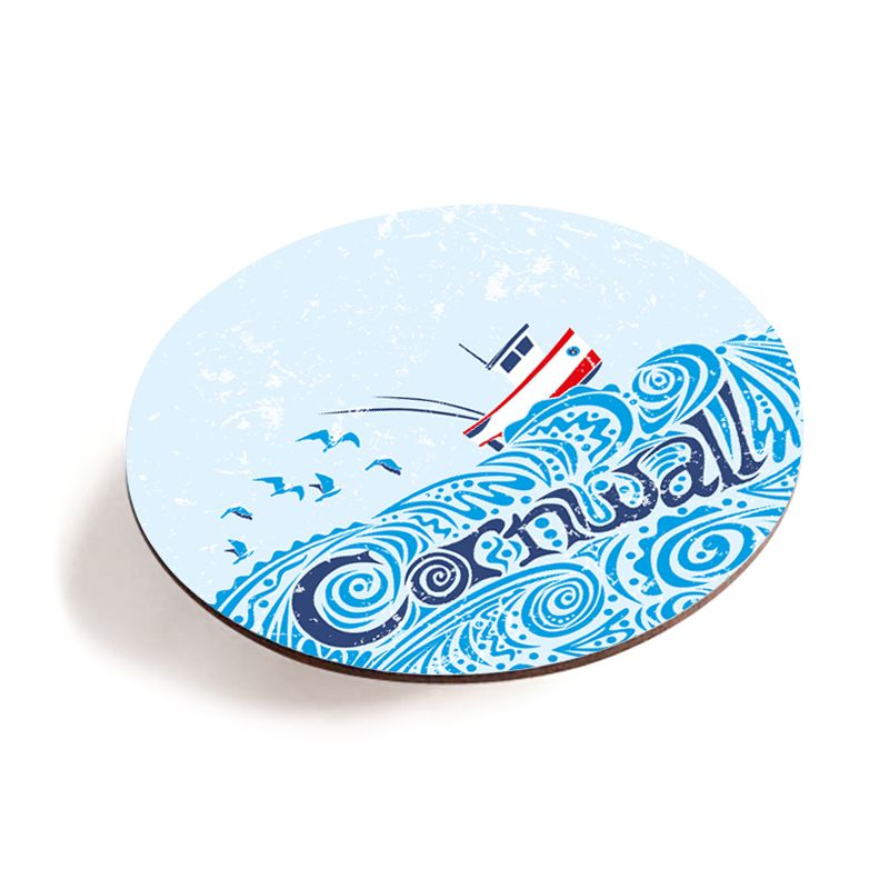 Melamine Teapot Stand - Cornwall Fishing Boat