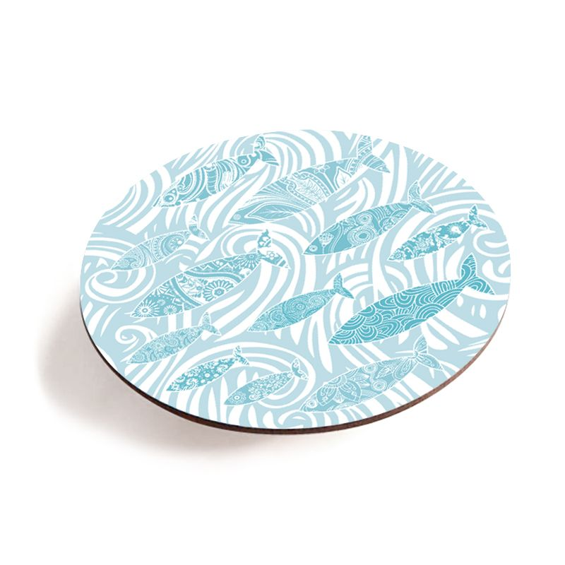 Melamine Teapot Stand - Pale Shoal of Fish