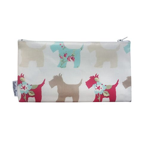 Cosmetic Bag - Red and Brown Scottie Dogs