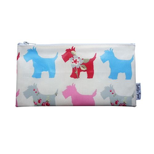 Cosmetic Bag - Red and Blue Scottie Dogs