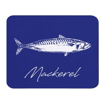 Mackerel Placemat - Navy Melamine - Coastal Style