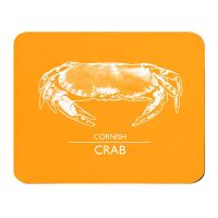 Cornish Crab Placemat - Orange & White Melamine - Cornwall Style