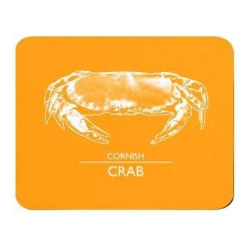 Place Mat - Cornish Crab - Orange