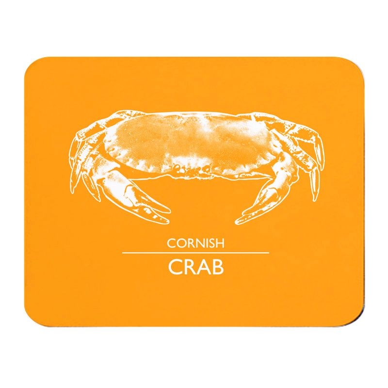 Place Mat - Cornish Crab - Orange