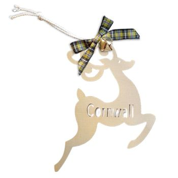 Wooden Hanging - Cornwall Reindeer
