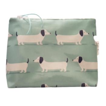 Large Hound Dog Washbag - Teal