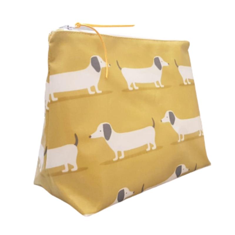 Large Hound Dog Washbag - Mustard
